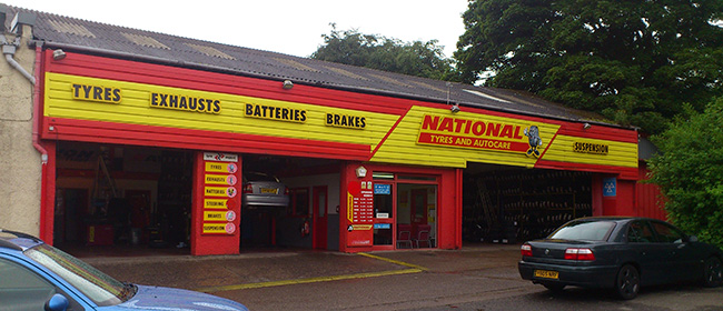 National Tyres and Autocare - Dunfermline branch