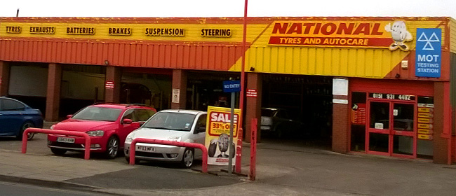 National Tyres and Autocare - Crosby branch