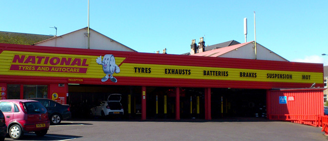 National Tyres and Autocare - Glasgow (Battle Place G42) branch