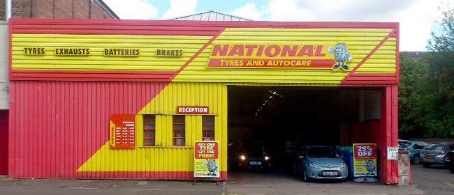 National Tyres and Autocare - Glasgow (Partick G11) branch