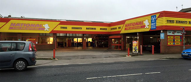 National Tyres and Autocare - Blackpool (Dickson Road FY1) branch