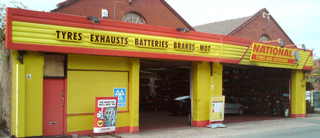 National Tyres and Autocare - Birkenhead (Argyle Street CH41) branch