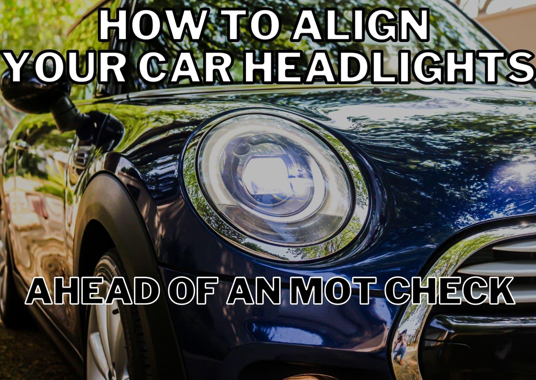 align car headlights