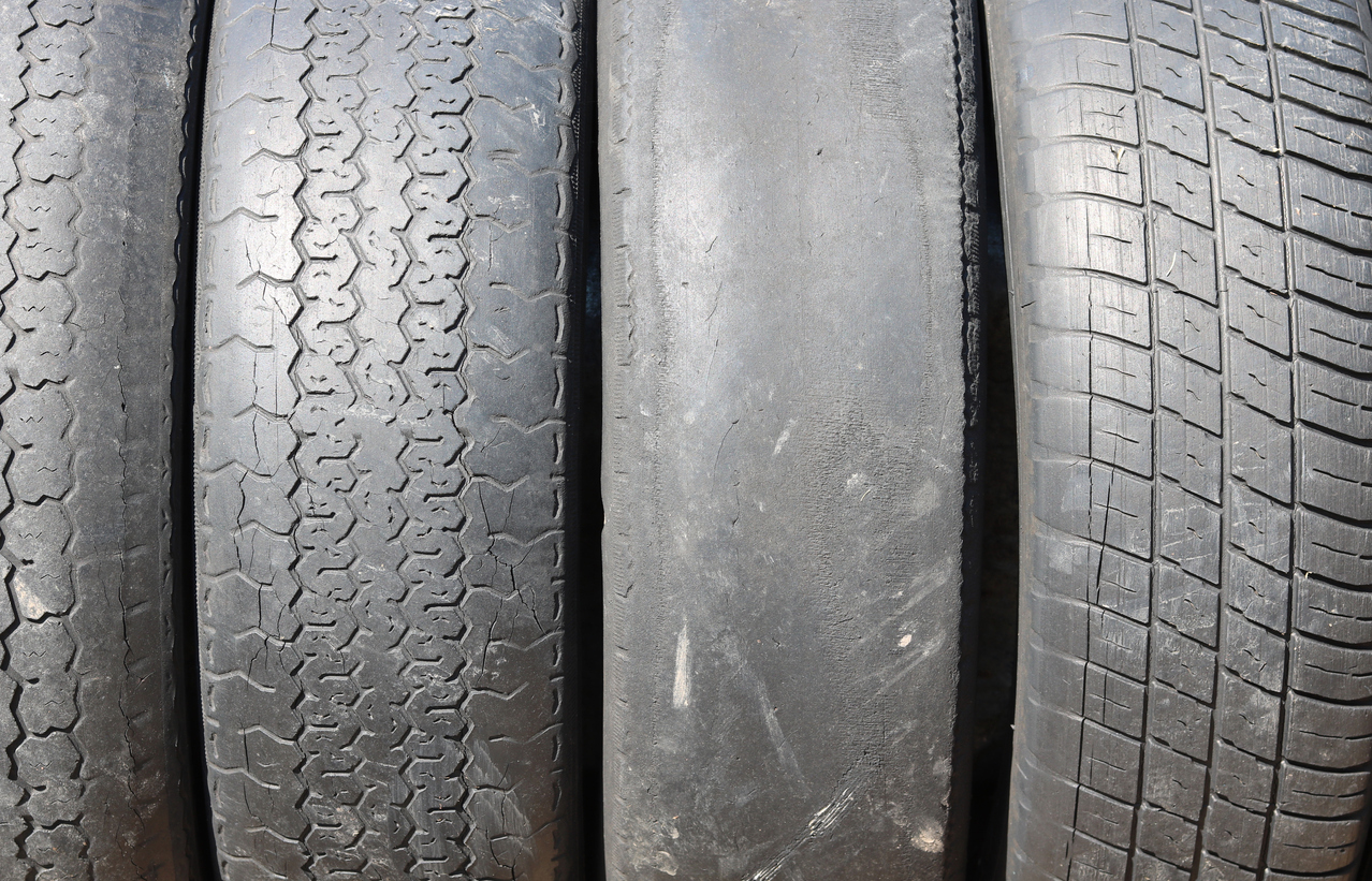 What is a bald tyre?