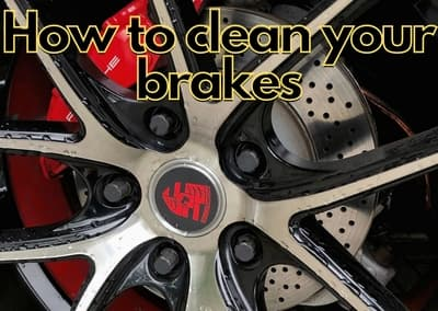 how to clean brakes