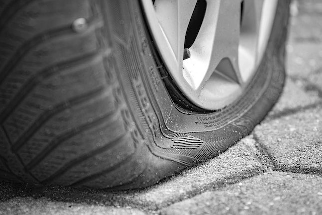 Under Inflated Tyre