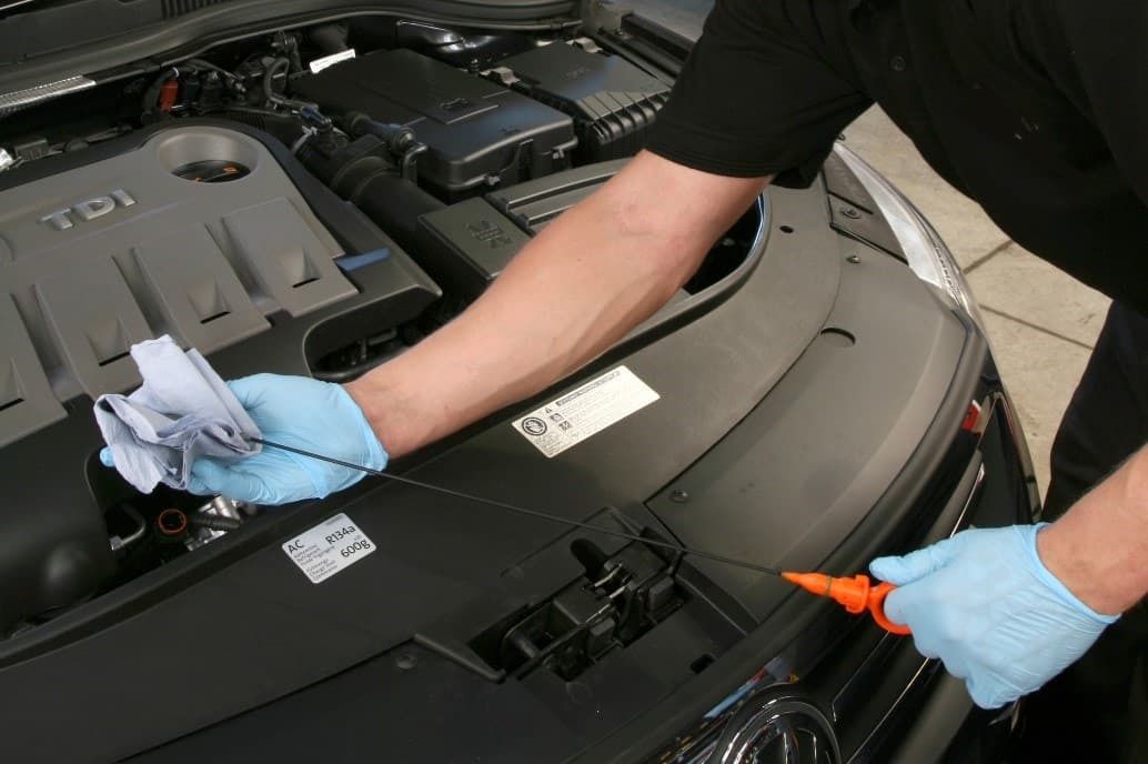 checking car oil