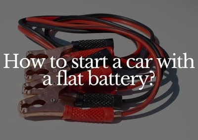 how to start a car with a flat battery