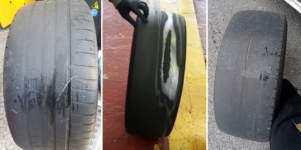 Shocking images of illegal tyres
