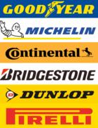 Premium brand tyres